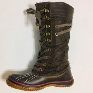 Pajar Canada Brown Leather Snow Winter Boots 6-6.5